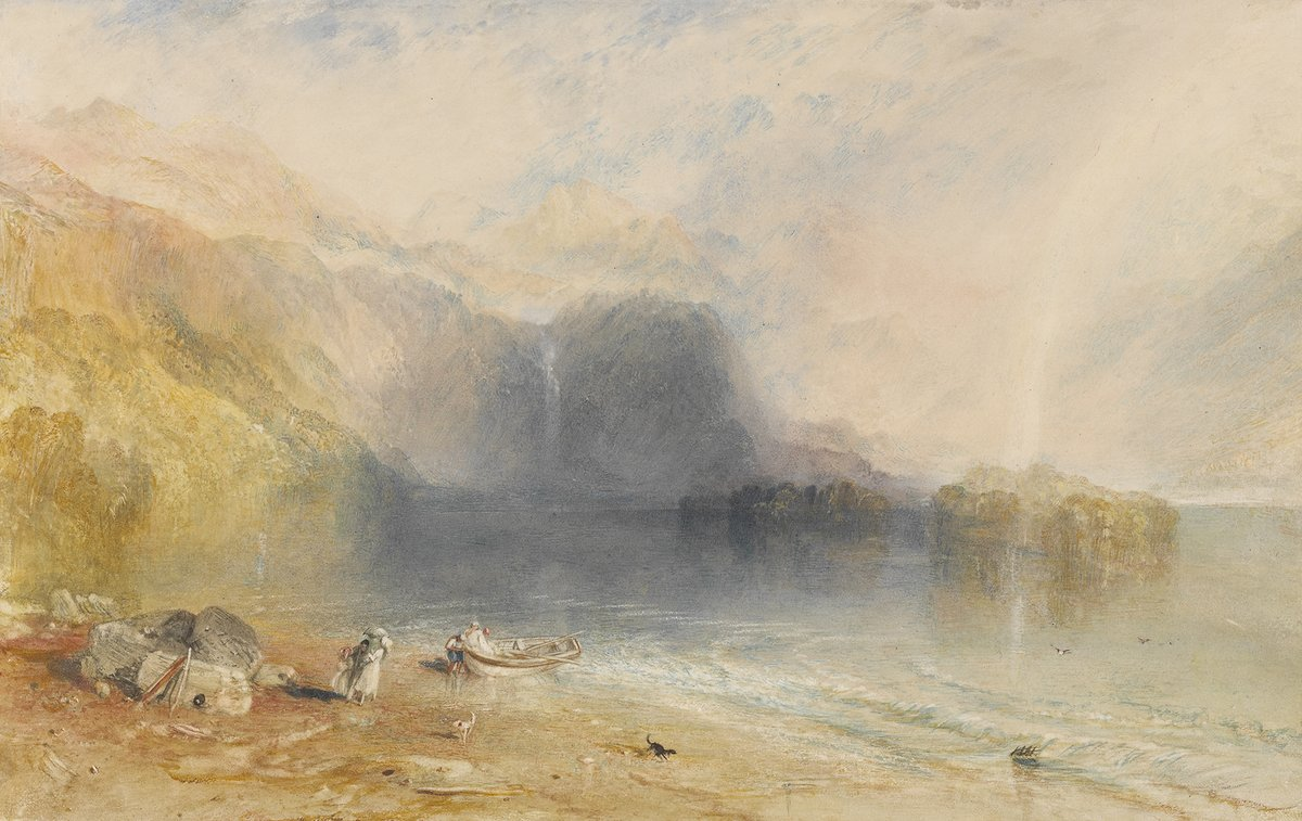 These atmospheric views were captured by J M W Turner in the 1830s, and show Keswick Lake, in Cumbria in the north of England on the left, and Loch Katrine in Scotland on the right. Find more spellbinding scenery in this blog: ow.ly/XCW630qOaOI
