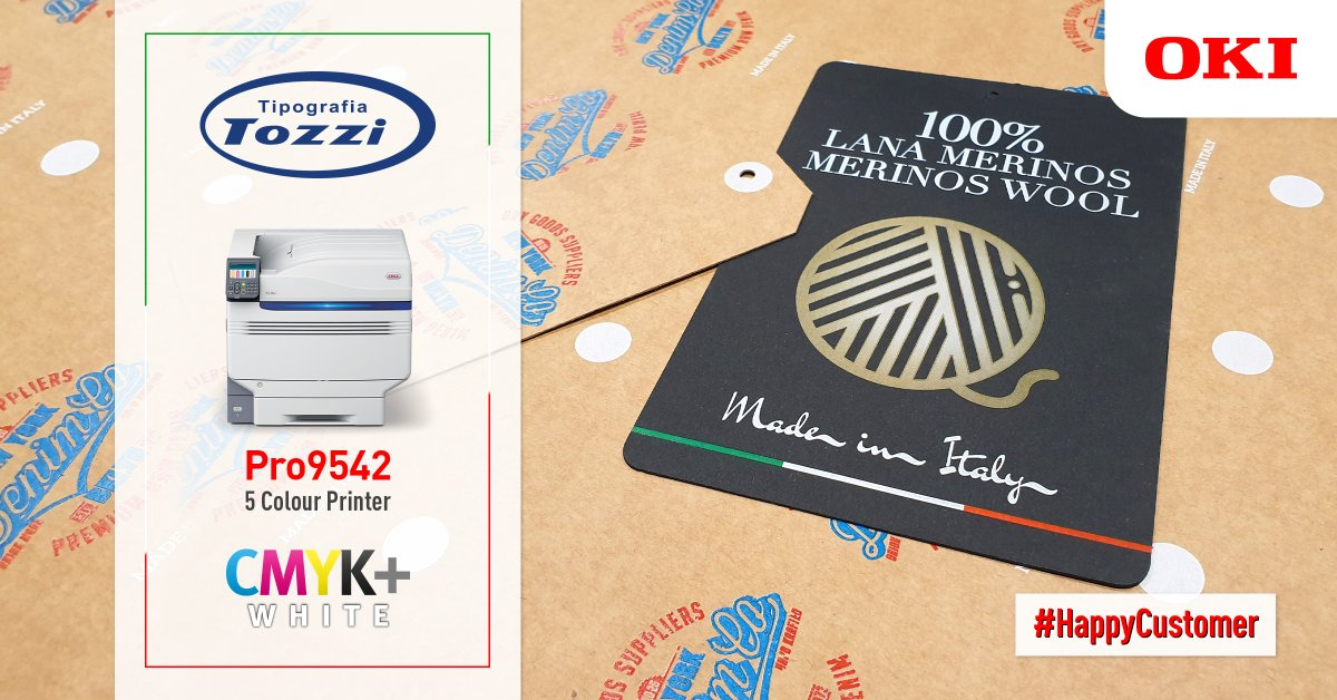 Through the use of OKI's Pro9542 CMYK+White 5 colour printer, printing business Tipografia Tozzi was able to adapt to new trends in the retail sector by offering 5 colour printing on demand: https://t.co/TRsClJx528 https://t.co/rMYTrN4e51