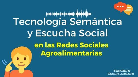 🚀¿Tecnología semántica o escucha social? 📣  Descubre la herramienta de monitorización en #RedesSociales que ayuda a analizar los temas más relevantes en tiempo real en las empresas #agroalimentarias  https://t.co/PhC2MXayLB vía @agrobialar  #AgroMarketing #Agro https://t.co/GHzE5HG5Bd