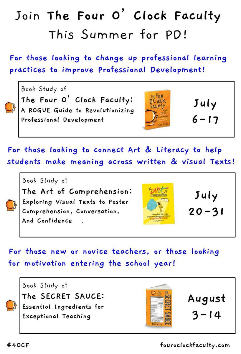 Free Summer PD Voxer groups forming now. Reach out to @RACzyz or to me to join the conversation.
