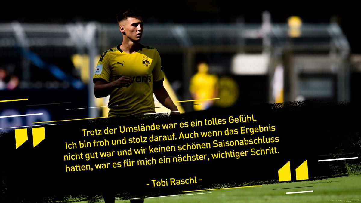 💪 Als Meisterspieler der #BVBU19 war Tobi #Raschl zu den Profis gestoßen. In der Jugend stets ein Anführer, begann im Sommer 2019 ein neues Kapitel.  Bundesliga-Debüt: ✔️ https://t.co/PPwirNF2MJ