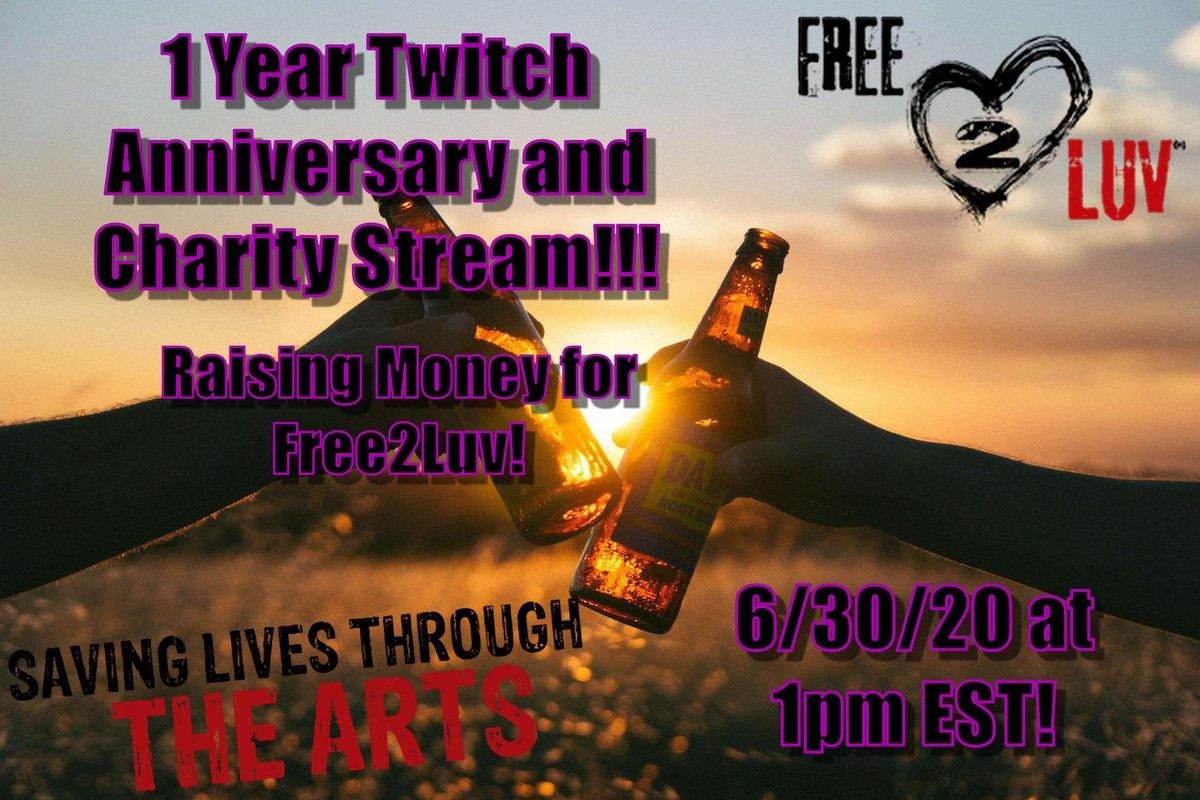Tomorrow is my 1 year @Twitch anniversary stream! Lets celebrate with a charity stream!! #twitch #charitystream #charitytuesday #streamer #lastofuspart2 #LetsPlay