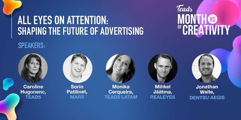 #AllEyesOnAttention 01 Luglio 2020 | 16:00 - 17:00  Partecipa al Panel su Zoom per scoprire come costruire una strategia di advertising efficace stimolando l'attenzione. Iscriviti https://t.co/4dlgI1ggdK https://t.co/SgxdwrYDRi