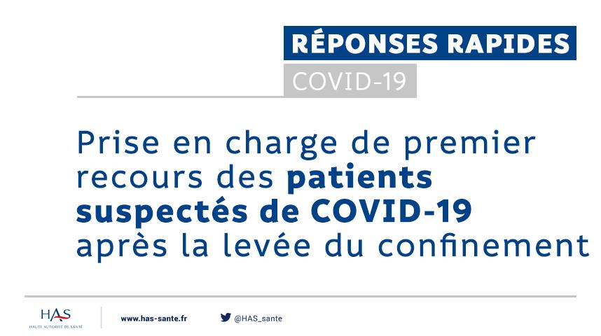 #Coronavirus   Réponse rapide – Prise en charge de 1er recours des patients suspectés de #COVID19  Des fiches pratiques pour guider les médecins généralistes : la conduite à tenir face à un potentiel cas ➡ Éviter un rebond de l'épidémie  👉 https://t.co/YIF9oVbJxG https://t.co/mJf2xPwkRw