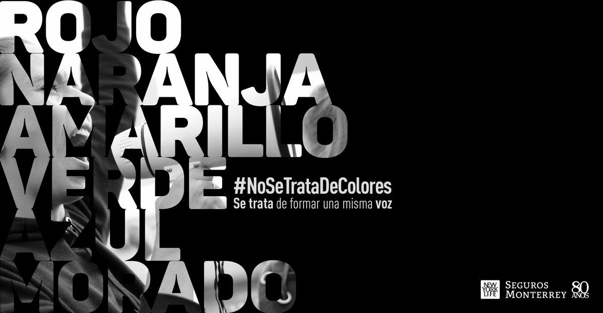 #NoSeTrataDeColores se trata de unirnos para que nos escuchen. Escucha nuestra playlist oficial y baila al ritmo de la diversidad: https://t.co/nVqTSQIiO2 #NosMueveElAmor https://t.co/MZj967t3QZ