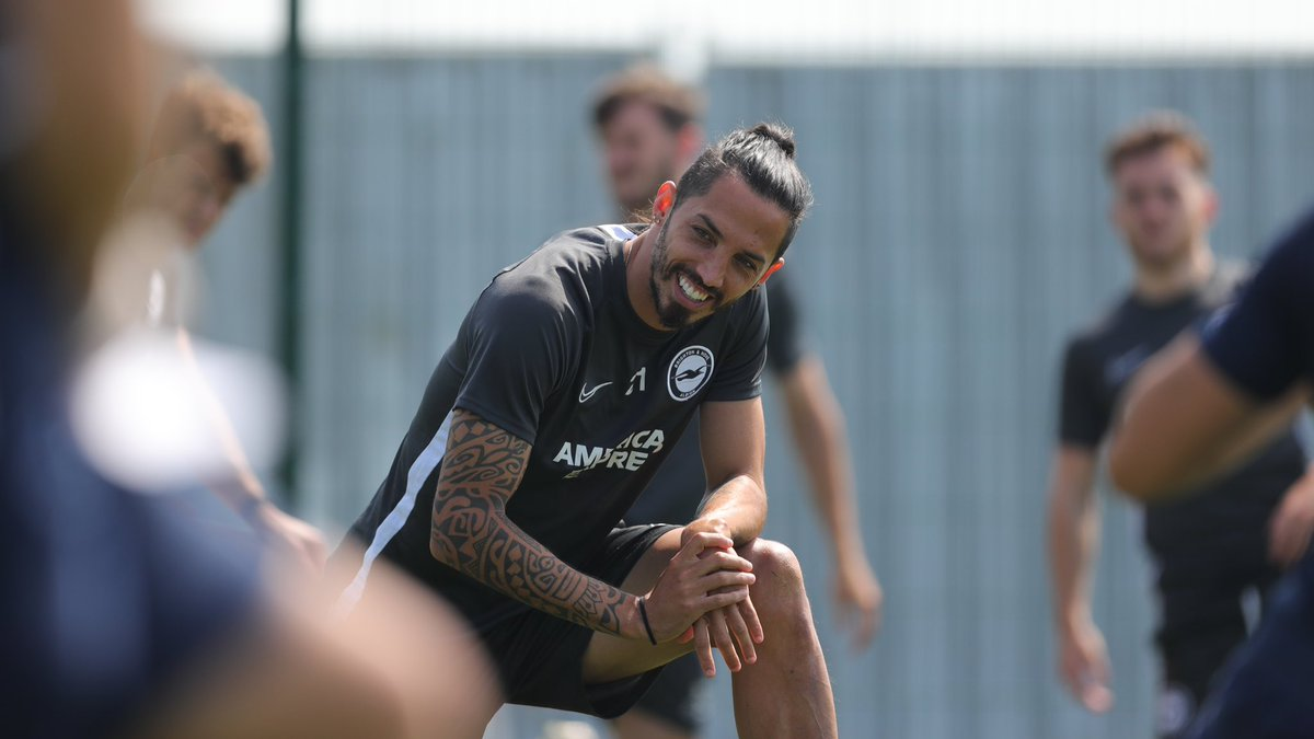 Positive vibes 😁 All together ⚽️⚠️ #bhafc #galgo #premierleague @OfficialBHAFC https://t.co/sfDtcglXtS
