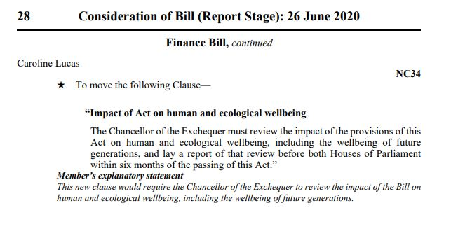 If ministers' talk of a green recovery is to have any meaning, it must focus on health & well-being of people & nature – not GDP growth stats We have chance to #BuildBackBetter for future generations. @RishiSunak should take it #todayfortomorrow My amendment to #FinanceBill 👇
