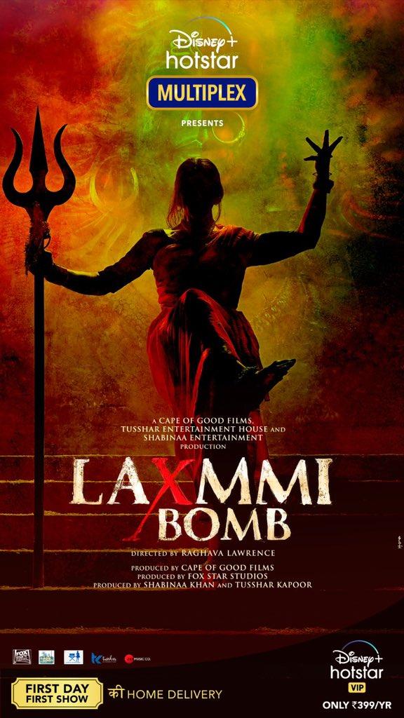 Jald hi phootega yeh bomb aapke ghar mein! Aane wali hain #LaxmmiBomb First day First show, from the comfort of your homes! Watch #LaxmmiBomb on @DisneyPlusHSVIP with #DisneyPlusHotstarMultiplex