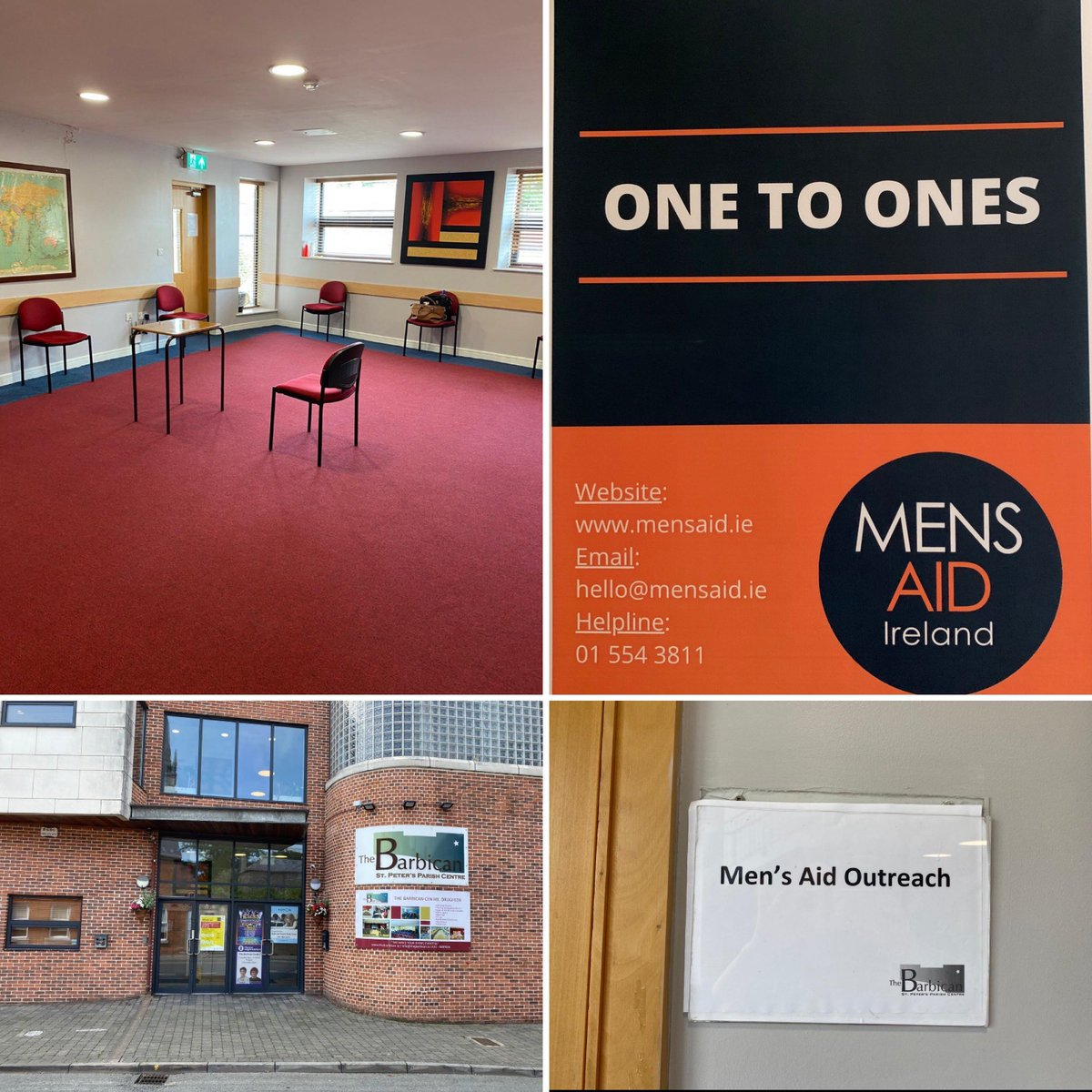 "Men's Aid Ireland on Twitter: ""Delighted to announce 2 of our outreach  clinics are now up and running!Our 2nd clinic,The Barbican Drogheda,runs on  the last Friday of each month.We hope to advertise"