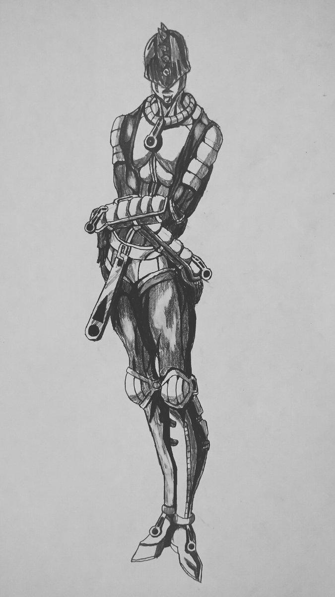 test ツイッターメディア - ジョジョの奇妙な冒険 第5部 黄金の風ブローノ・ブチャラティのスタンドスティッキィ・フィンガーズを描いてみました。#ジョジョの奇妙な冒険 #スティッキィフィンガーズ #漫画家志望さんと繋がりたい #絵描きさんと繫がりたい #イラスト好きな人と繋がりたい https://t.co/5PNQ04oq18