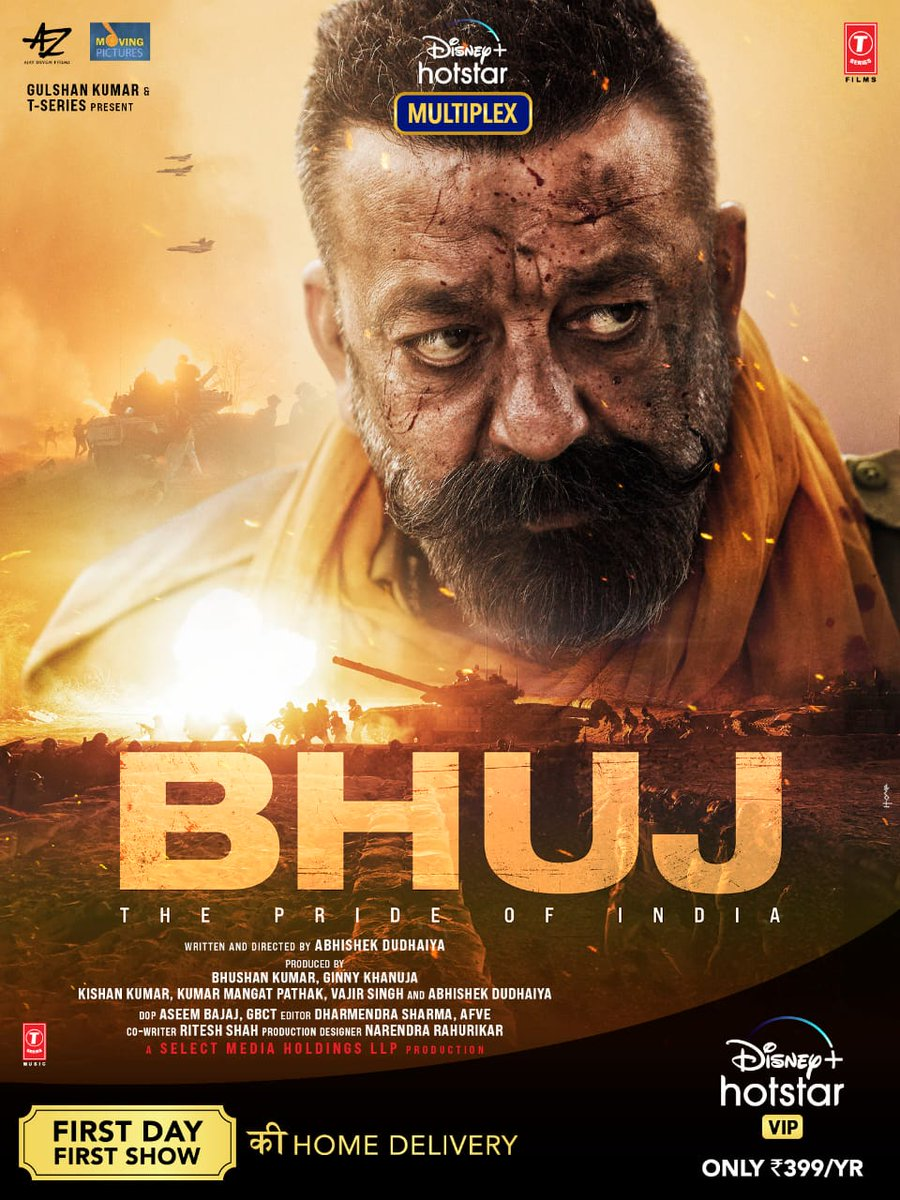 """Sanjay Dutt on Twitter: """"Checkout my first look from Bhuj: The Pride of India!  Taiyaar raho doston, aa raha hai Bhuj: The Pride of India jald en.  First Day First Show Ki"""