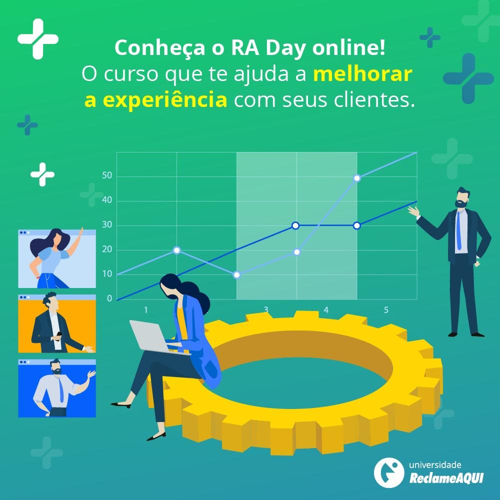 Já parou para pensar no retorno que uma boa experiência do cliente dá para a empresa? Este é um dos conteúdos que o curso RA Day online traz! E o começo para que você consiga entender esse novo consumidor. Acesse https://t.co/fMYIJsxk9A e faça sua inscrição. https://t.co/Pr92ZG8ULi