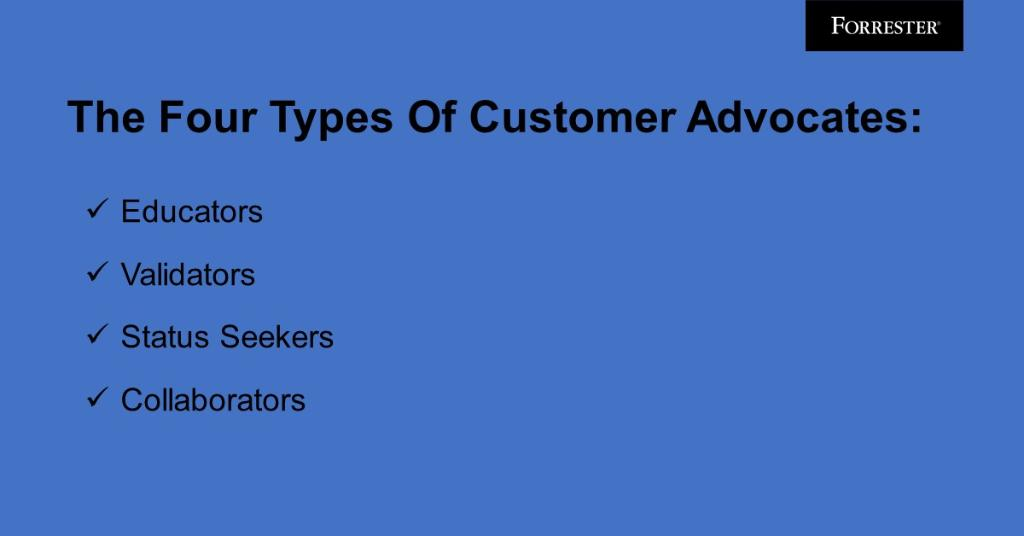 Not all customer advocates are alike. Understand what motivates them to boost your return on customer #marketing: forr.com/31oVoLa via @lauraramos #ForrB2B