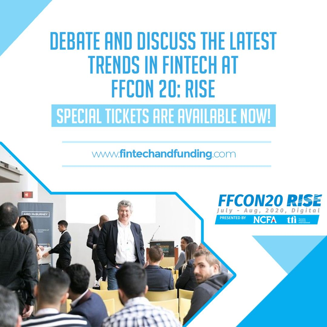 Want to know what the upcoming trends in fintech are? Your ticket is available now https://t.co/8G2mwruIGW #FFCON20 #Toronto #Tech #Fintech #Blockchain #AI @Richavicious  @TheBitcoinBay  @can_wcc @CIXCommunity https://t.co/7iNptOPdSb