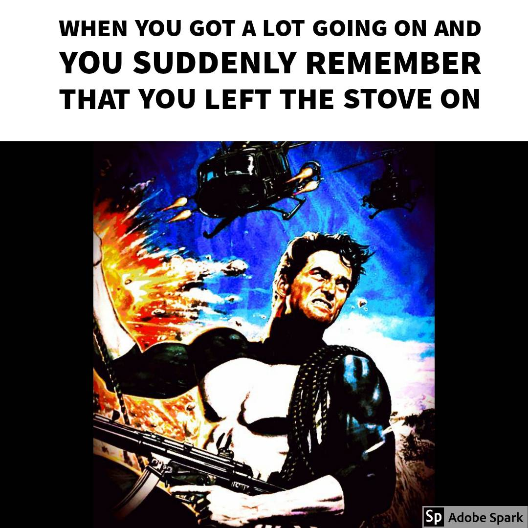 When you got a lot going on and you suddenly remember that you left the stove on  Original pic #reposted from @diecastcook ° ° ° ° ° #Punisher #ThePunisher #comicbook #truth #RelatablePost #RelatablePosts #relatableshit #relatablepic.twitter.com/hqqp1KMqEy
