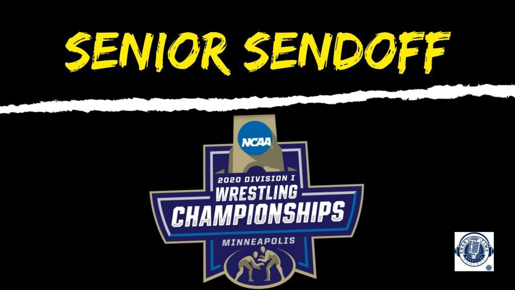The Senior Sendoff is the work of the PA announcers from those championships – Jason Bryant, Bryan Hazard, Dort Mayabb, Brian Zins, John Peterson, Kat Balch and Sandy Stevens.  🎧 Listen in 👉 https://t.co/Rrqbd4NuZA  #ncaawrestling #MatTalk https://t.co/blk4n8jdMx