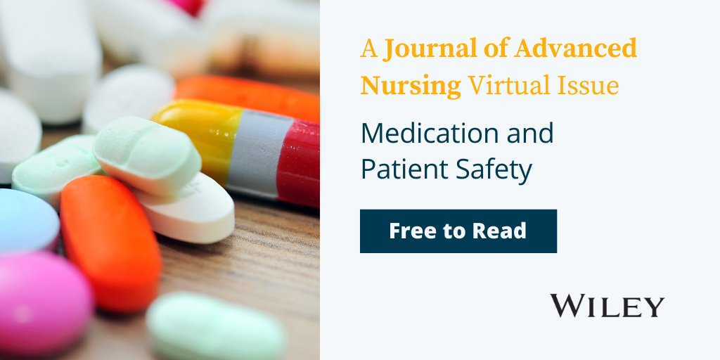 Read now: a new virtual issue from @jadvnursing on Medication and Patient Safety, guest-edited by @MHarkanen @UniEastFinland  http:// ow.ly/GYym50Ab4Vq     #patientsafety #medicationsafety #medicationmangement #Nursing #Nurses2020 #uef<br>http://pic.twitter.com/R07T9ihqHU