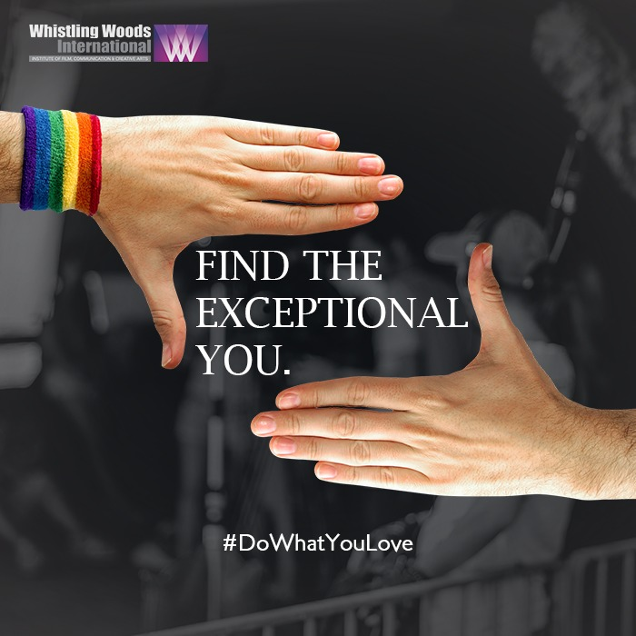 We encourage the aspirants to follow their convictions, offering them a platform to transform their passion into a profession. Whistling Woods International celebrates the exceptional you - your individual dreams and ambitions. #DoWhatYouLove #PrideMonth2020