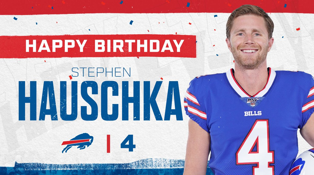 It's a special day for our kicker...  Happy birthday, Hauschmoney! 🎉 https://t.co/Cet4baQuUk