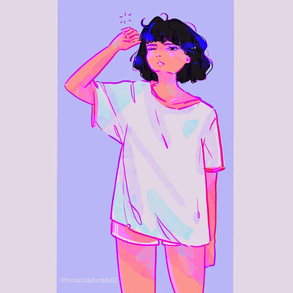 Put your hand up if you wake up ugly  It feels like I woke up from an art slumber Lol  #artistsontwitter #digitalart #animegirl #cureartpic.twitter.com/cc5JFNfCat