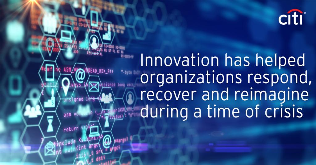 Innovation is vital in times of crisis. #Citi's Innovation Lab experts discuss how organizations can respond, recover and reimagine, and how technology and innovation are part of the solution: https://t.co/ipzAjMjeLE https://t.co/EQvGeEQCca