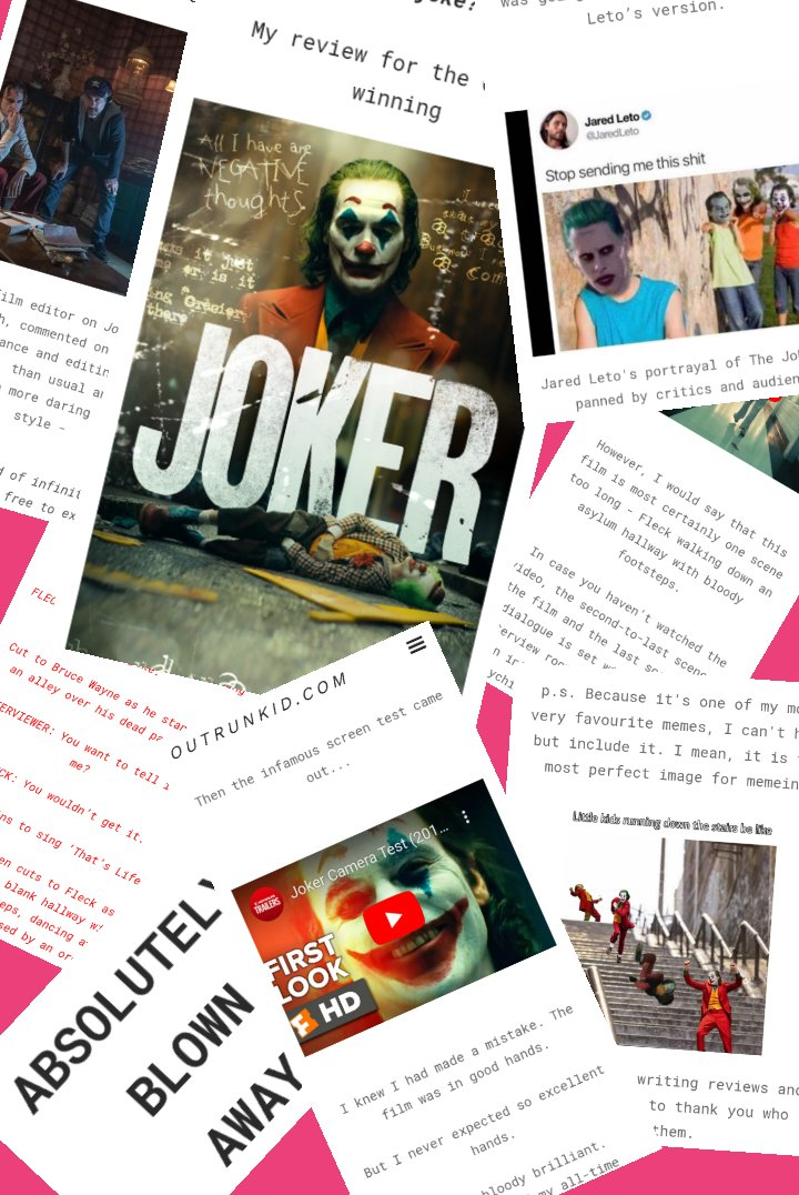 Hmmm... I need to improve my #following... If in going to become a #freelance #writer my content needs more exposure... Read on for A SNIPPET of my Joker Reviewpic.twitter.com/B34EFgx781