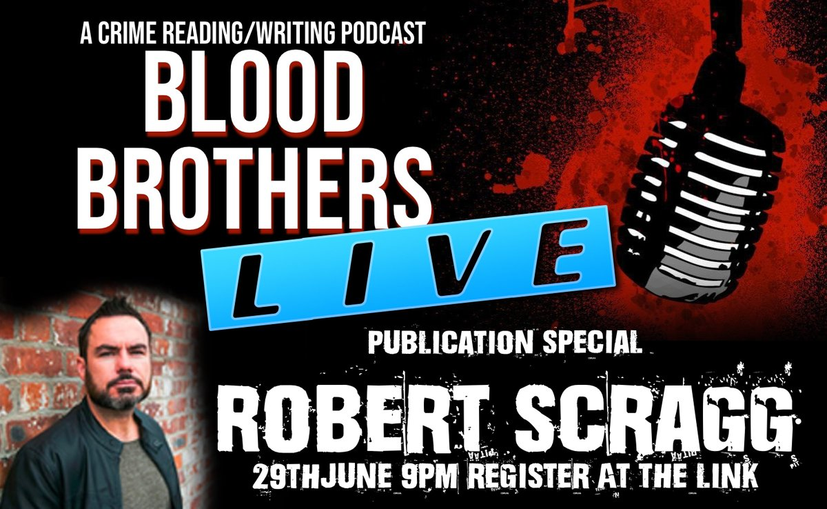 Only a few hours now before the @bloodbrospod, @mseancoleman, @cmacwritescrime and I put @robert_scragg on the grill, dial up the heat and chat all things crime and his new book #AllThatIsBuried LIVE. 9pm Tonight register down below! @AllisonandBusby   https://t.co/jCTzxAzxZ7 https://t.co/3Ck1lcke4n