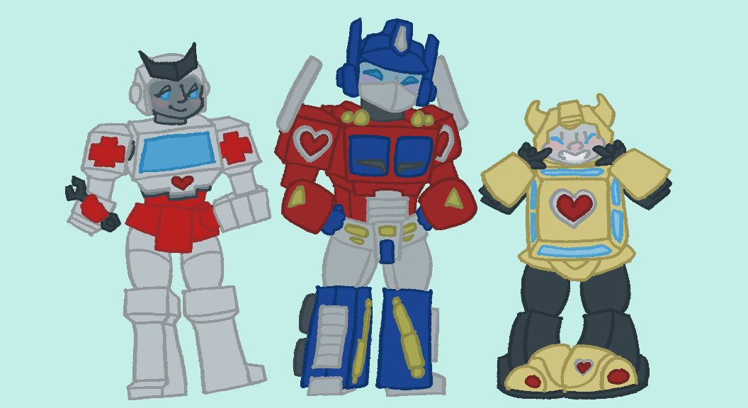 #bumblebee and #ratchet sticker designs with OP for scale :)  #transformerspic.twitter.com/hAoQDtayti