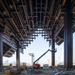 Image for the Tweet beginning: The largest steel-wood roof structure