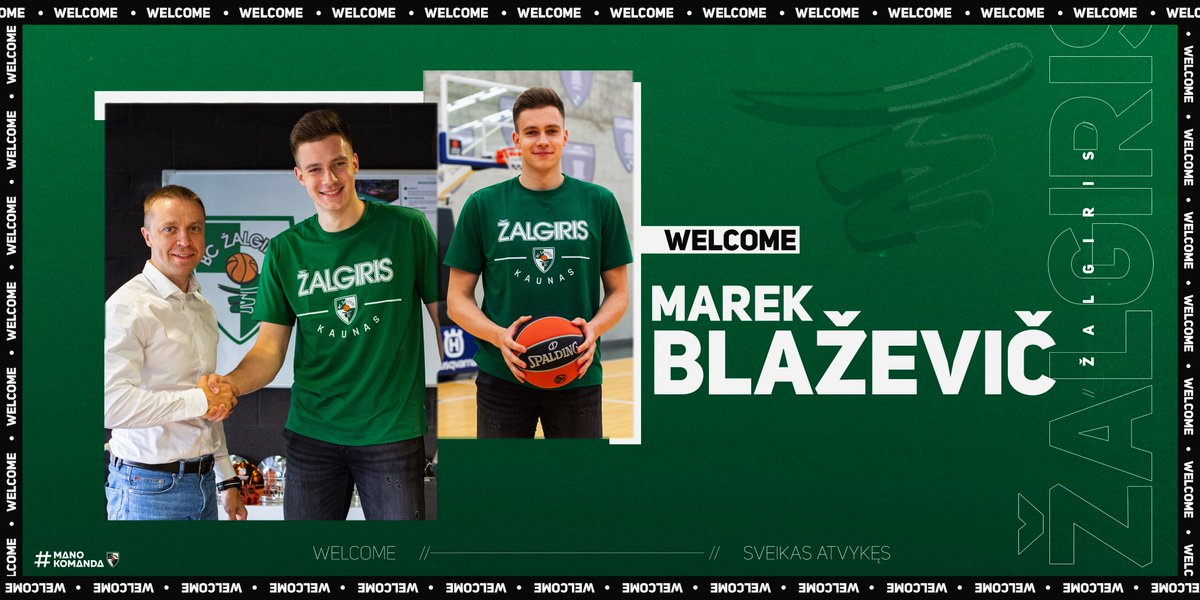 Let's welcome Marek Blazevic to the green-and-white family. The 18-year-old has signed a long-term deal with Zalgiris! 🤝  Read more 👉 https://t.co/l2DYQ86wwB https://t.co/4Hpi7LBnvC
