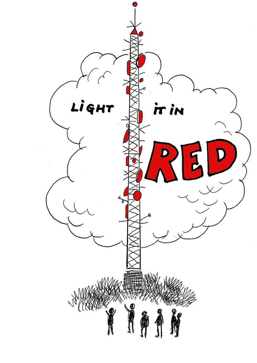 #lightitinred - This time next week - Monday 6th July multiple UK buildings and landmarks to be lit in red ..... https://t.co/9jgii403Yd