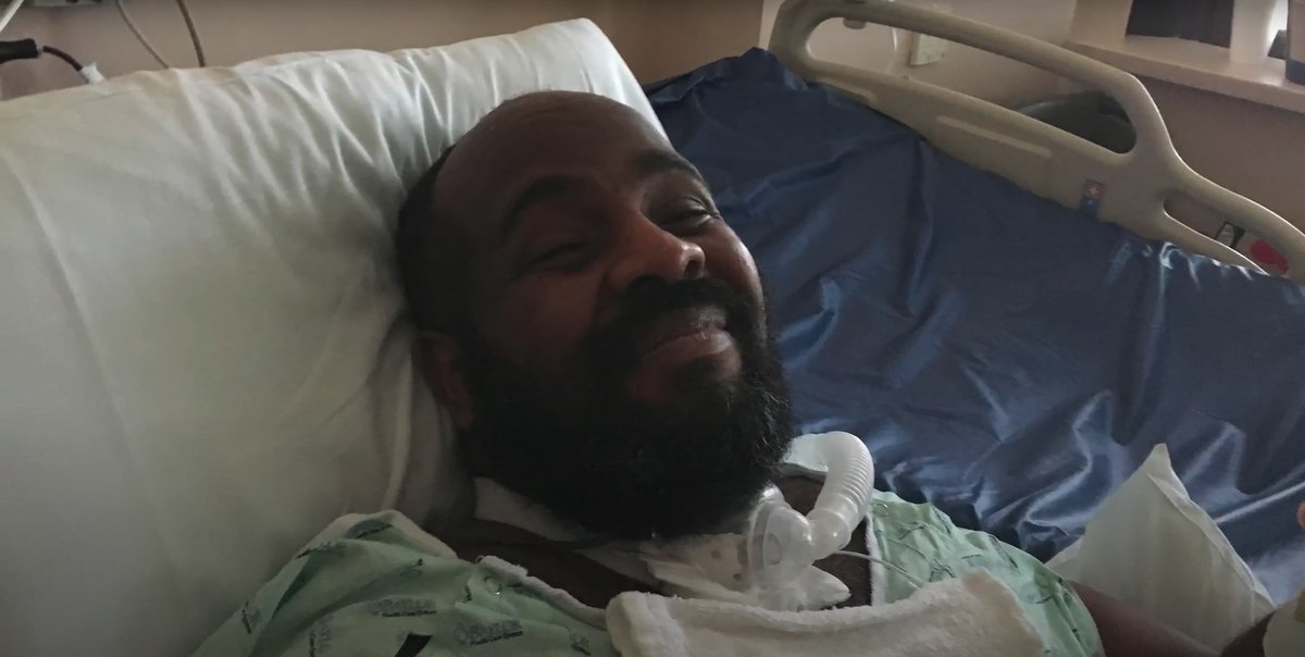 """On June 11th, Michael Hickson, a quadriplegic black man with COVID-19 was killed by a hospital in Austin Texas.  Doctors decided he had """"no quality of life"""" and was not worth spending the resources to save.  The conversation between his doctor and his wife was caught on audio 1/? https://t.co/sQxdXNhhRM"""