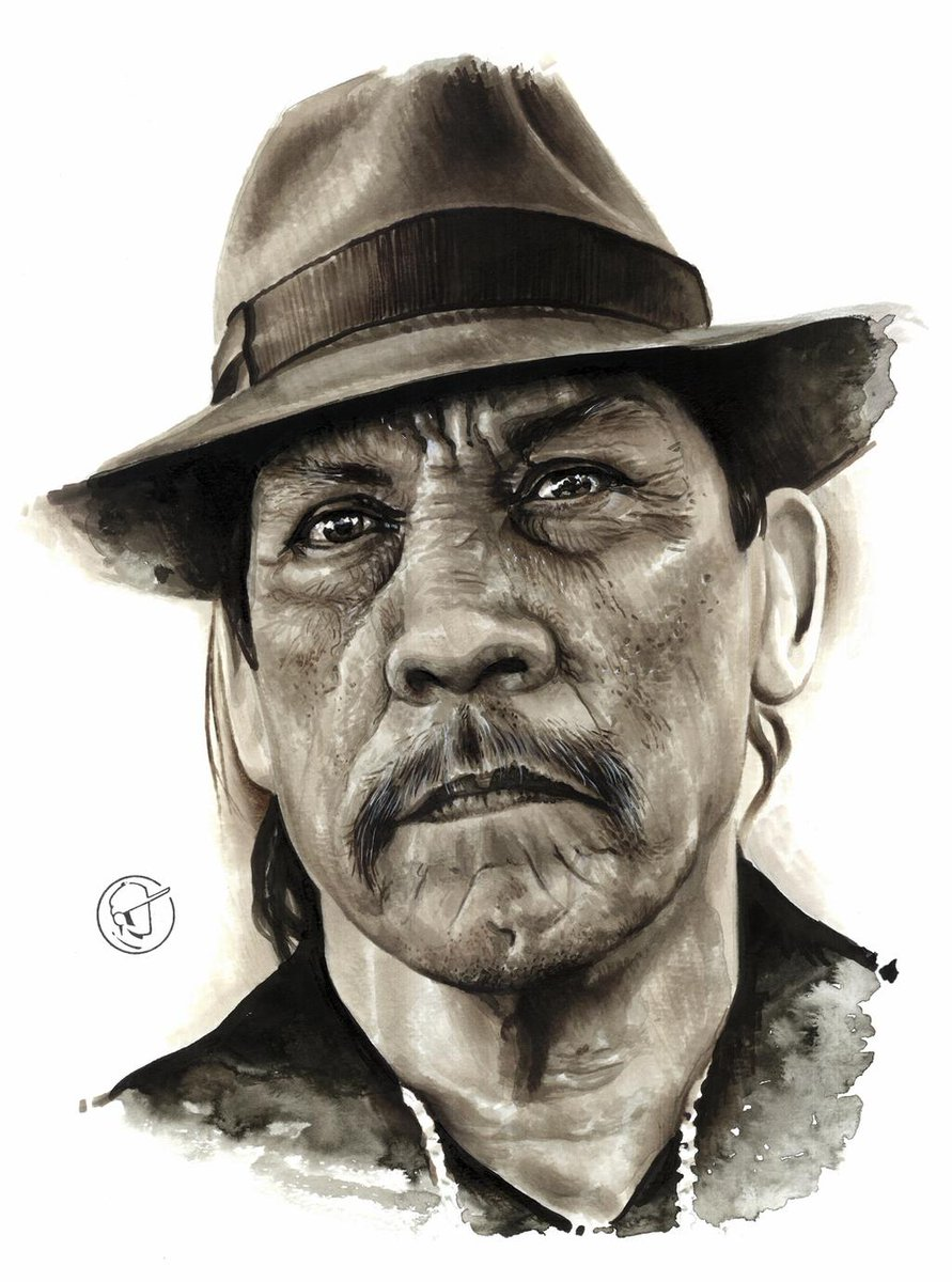 Trejo Tribute painting using copic markers  Art by Fernando De Paiva https://t.co/ggN6kkztxg
