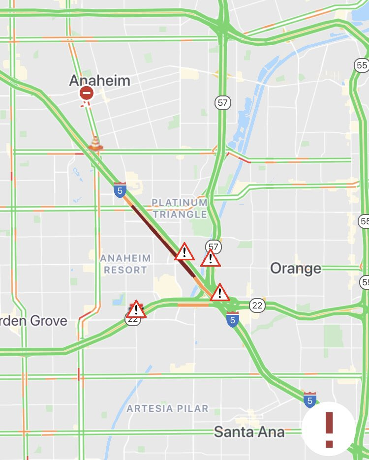 #SIGALERT UPDATE #1 - Southbound I-5 JUST SOUTH OF CHAPMAN AVE - LANES #2/3/4 NOW OPEN, HOV/#1 REMAINS BLOCKED.