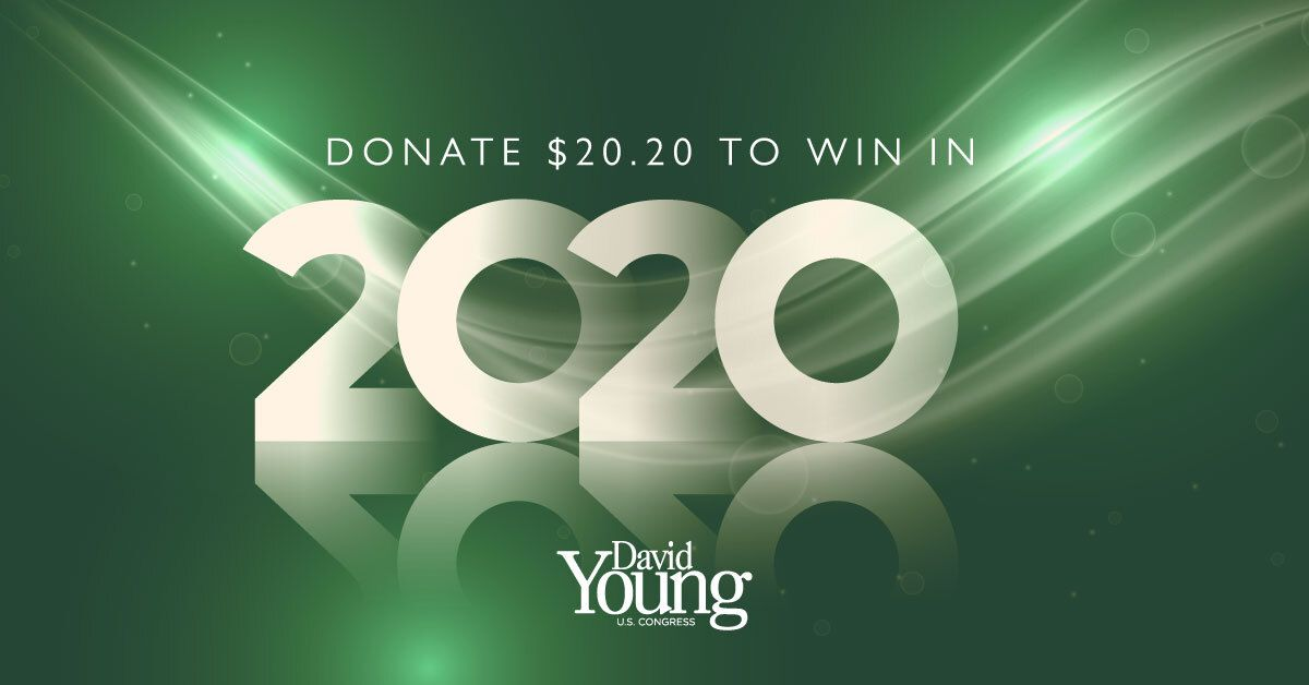 Tomorrow marks the end of the quarter, which is an important reporting deadline. Chip in $20.20 today to help ensure a 2020 victory! secure.winred.com/davidyoung/eoq… #IA03