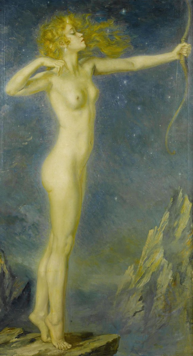 """Artemis,1916 ​​​​"" George Owen Wynne Apperley (1884 —1960) was a British painter."
