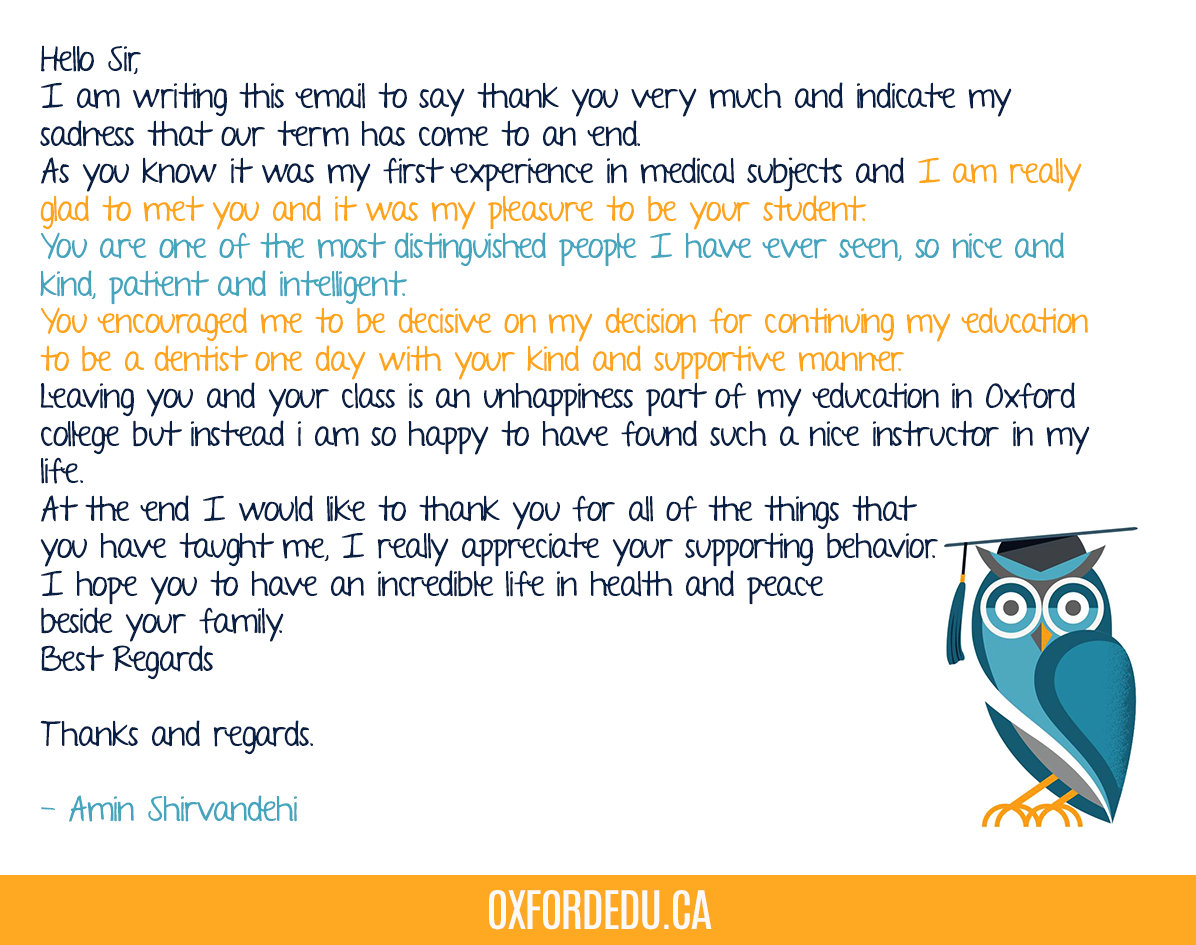 Amin Shirvandehi, one of our Scarborough students, sent this lovely note to Mr. Badar   Thanks Amin and good luck with your studies #OxfordCollege #OxfordEdu #thankyou #successpic.twitter.com/im9DXfHAY5