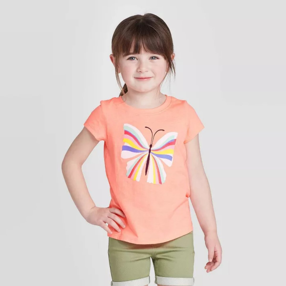 Whether she's learning a new word in preschool or painting at home, your favorite gal will be surrounded by vibrant colors when she's dressed in the Short-Sleeve Butterfly Graphic T-Shirt from Cat & Jack. #ad Shop here: https://t.co/v6QKHJuhqJ https://t.co/OS22CszCAL