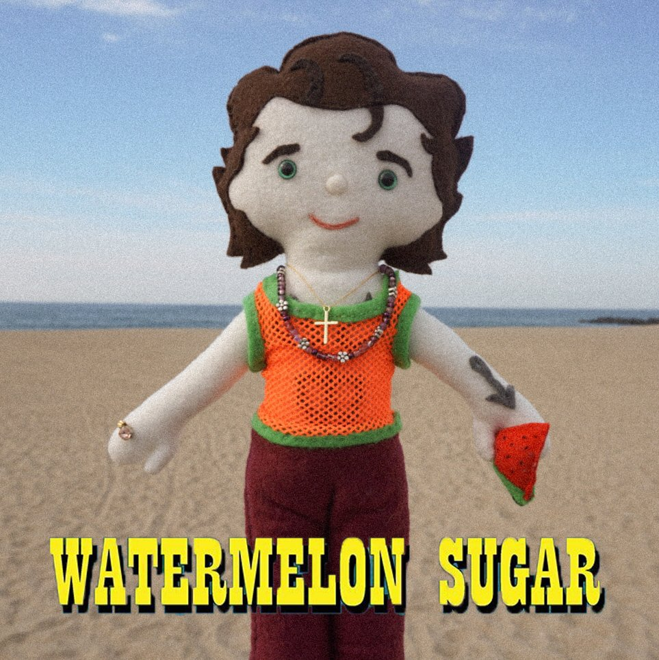 #WatermelonSugar by @Harry_Styles reaches a new peak of #16 on the @billboard #hot100 along with #adoreyou at #12! Give #fineline a listen! #harrystyles #watermelonsugarhigh #harrylambert #mollyhawkins #bradleyandpablo #columbiarecords #fineline #adoreyou