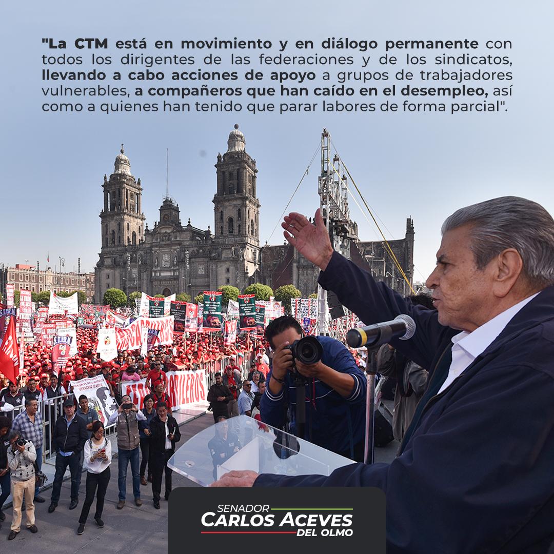 La @CTM_MX, nuestra gran central obrera, no detiene su incesante labor y lucha por las y los trabajadores de México. Ante la crisis por esta pandemia por el #COVID19, seguimos delineando acciones y buscando los mejores apoyos para nuestros agremiados.  ¡Unidad y Trabajo! https://t.co/jWgbH7A0EN