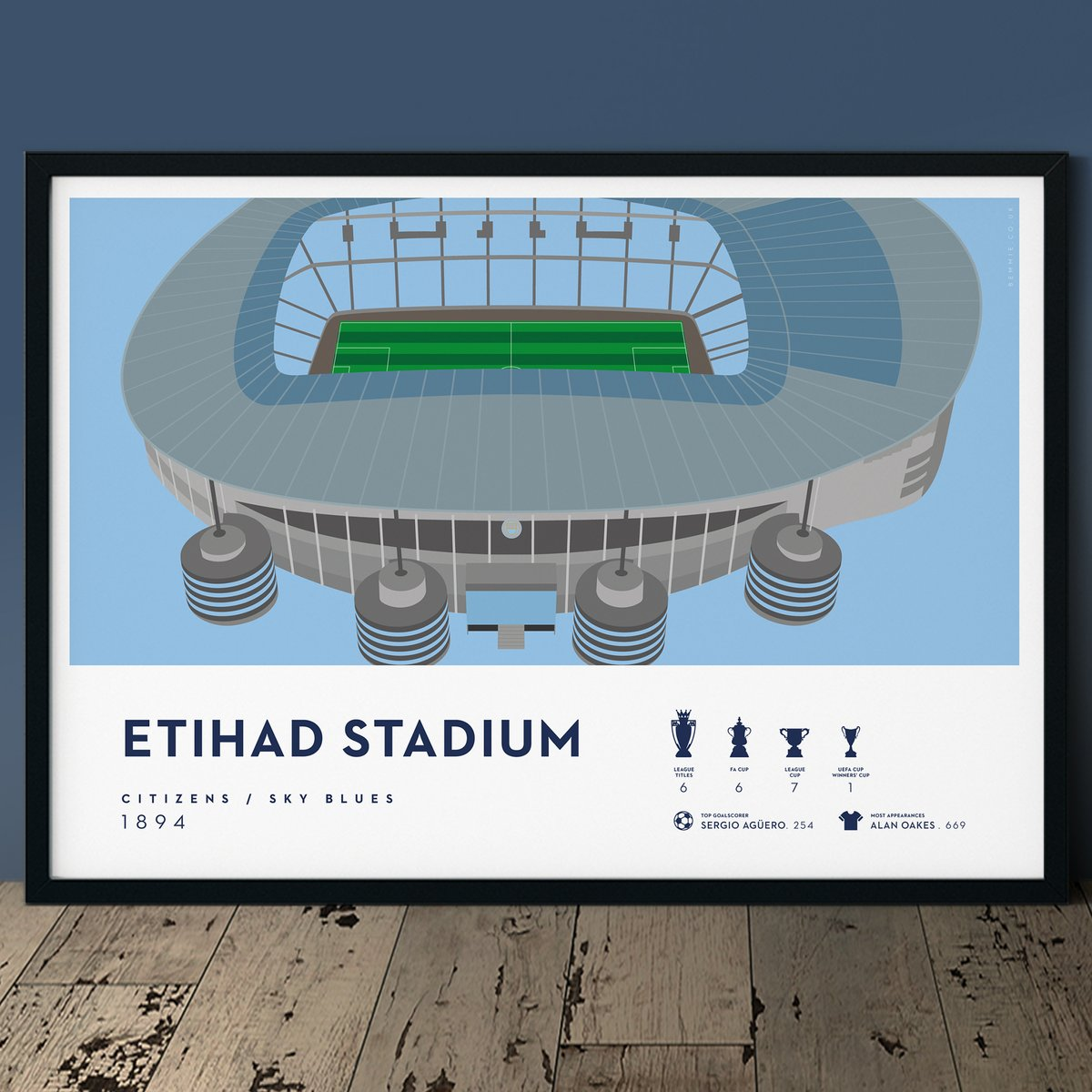New Man City Etihad Stadium Print  Full stadium view, including club records and major honours . Available in 3 sizes, with free UK shipping.  http://ow.ly/sLWf50AkFIk #manchestercityfc #mancity #mancityfc #skyblues #mancityfans //cc @City_Xtra @ManCity_MCFCpic.twitter.com/fhgTVuB90S