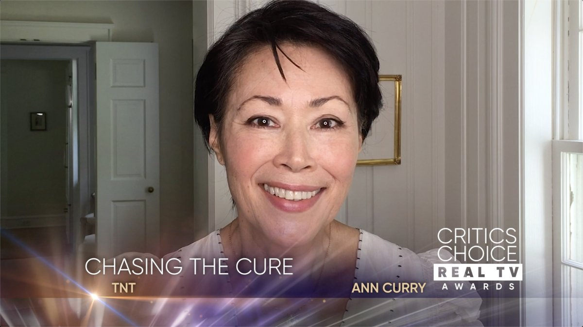 Congratulations to @ChasingTheCure with @AnnCurry. The show has won the Critics Choice Real TV Award for Best Live Show! youtu.be/_K1T2SReoiA #CriticsChoice #RealTVAwards