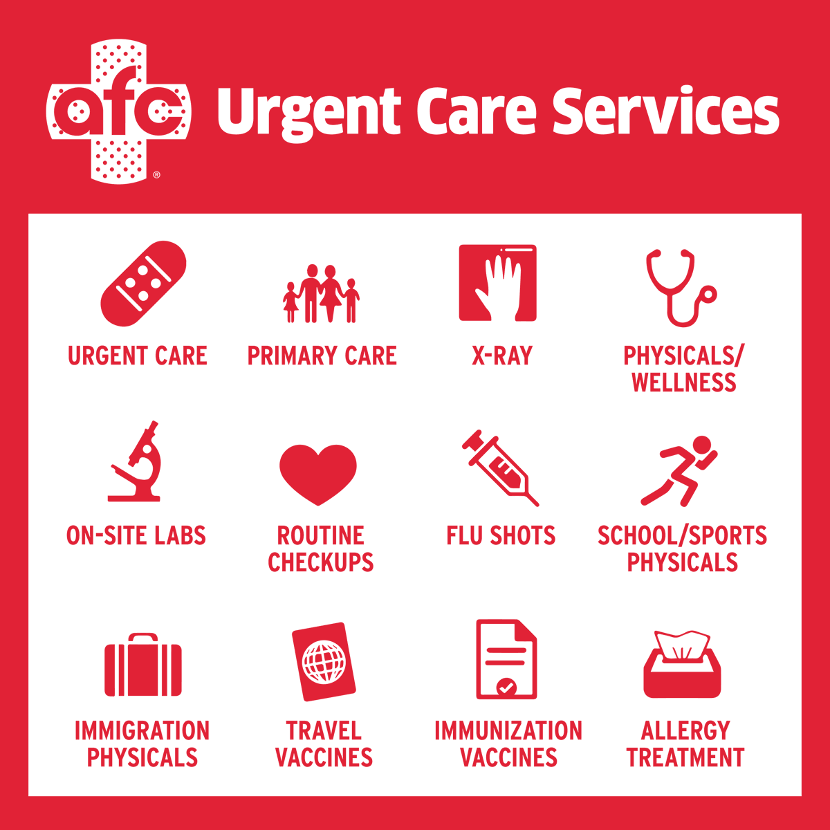 American Family Care On Twitter At Afc We Do Not Require Appointments Our Clinics Are Here To Provide The Immediate Medical Care You Need At A Fraction Of The Cost You Will