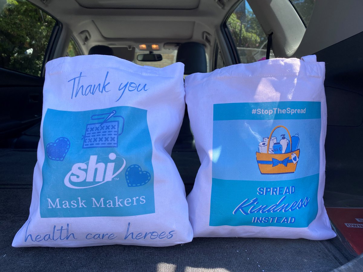 Shout out to the entire #SHIMaskMakers team, who donated 500+ masks to local communities so far, with 200 masks being their single largest donation to date. Thank you for the amazing work you continue to do #stopthespread of #covid19. #SHIGivesBack #InThisTogether #WhySHI https://t.co/DBVS425nt2