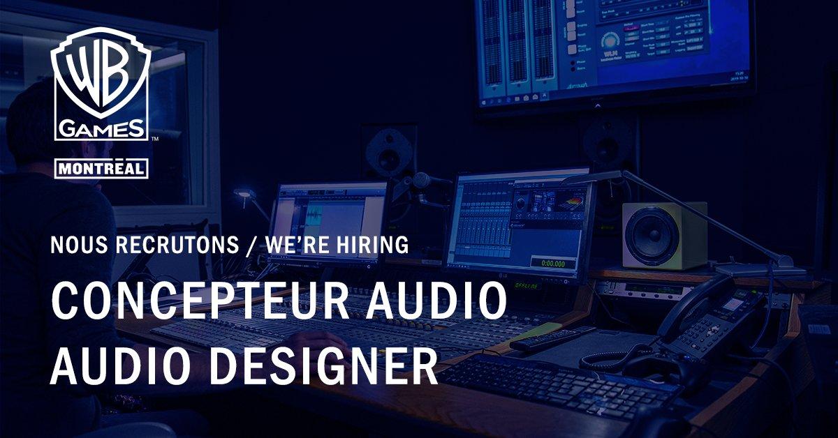 Hot Job de la semaine : Designer audio 🔥    Rejoignez-nous ! : https://t.co/ZRA2KQcqQj  💼  Weekly Hot Job : Audio Designer 🔥    Join us! : https://t.co/A80J1PoWgF https://t.co/yefZO6PsjH