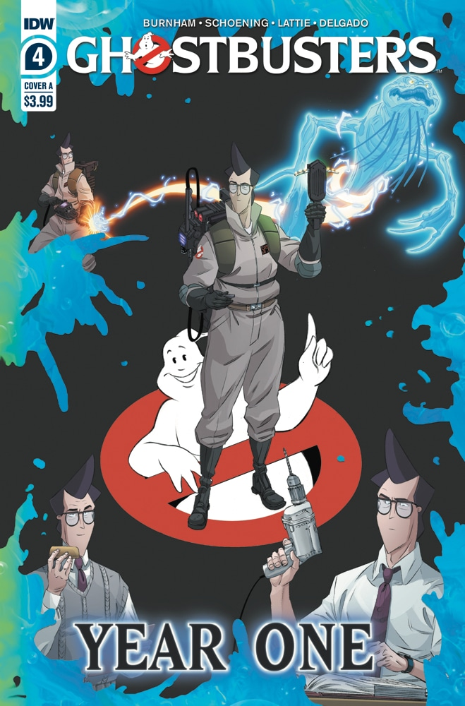 The final interview for the Ghostbusters biography is with EGON SPENGLER, who is inspecting the damaged firehouse while they talk. Pick up GHOSTBUSTERS YEAR ONE #4 in stores this week! @erikburnham @dannyschoening https://t.co/SnkoEmNerF