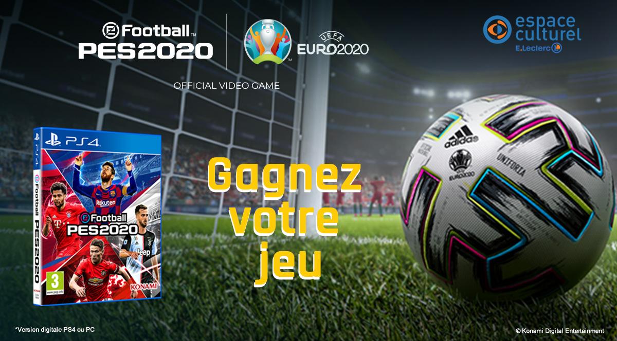 #Jeu #Concours A loccasion de la sortie du DLC de l'Euro 2020 sur #PES2020, tentez de remporter votre jeu sur PS4 ou PC ! RT + follow et noubliez pas de préciser votre plateforme en commentaire 😉 Pour craquer, cest ici ▶️ bit.ly/PES-2020-JC