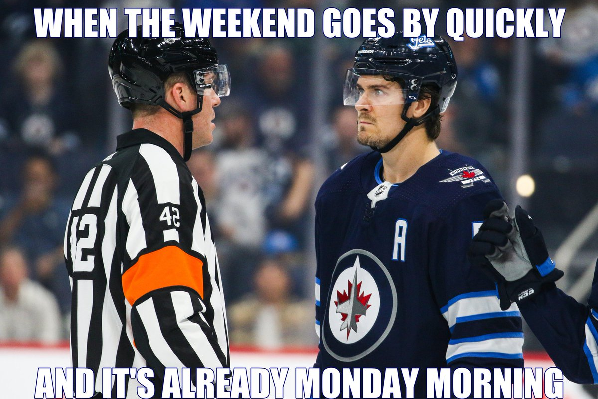 #JetsMemeMondays returns with a couple of photos for you to create your own memes from! VISIT ➡ WinnipegJets.com/MemeMondays Once you create it and save it, post it to Twitter with the hashtag #JetsMemeMondays and well share a few!