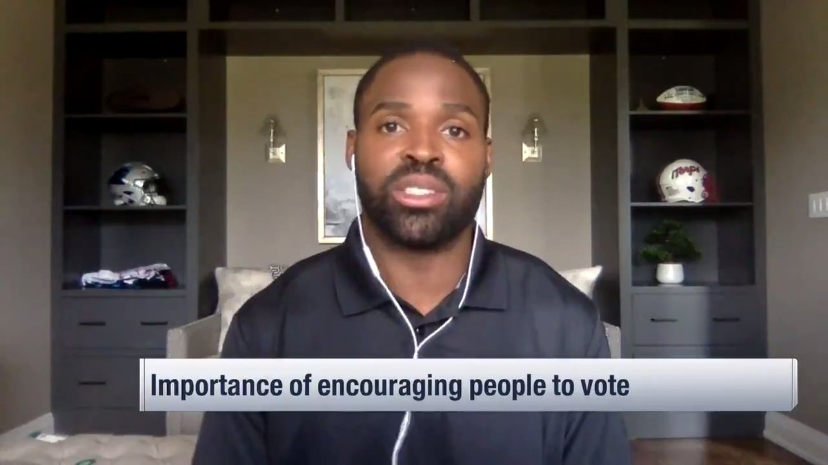 """""""We all have a part to play in helping to create a better America.""""  @TorreySmithWR and @aeneas35 talk about the community work they're doing to promote policy that addresses social injustice. @wyche89 @MikeSilver https://t.co/VbQxlYsrHV"""
