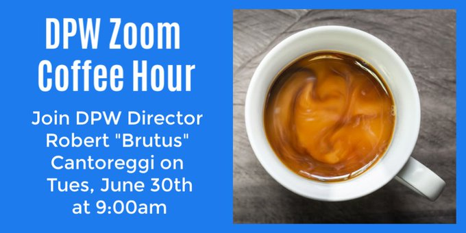 Virtual Coffee with Brutus - June 30 - Ask questions about water usage, resources, etc.